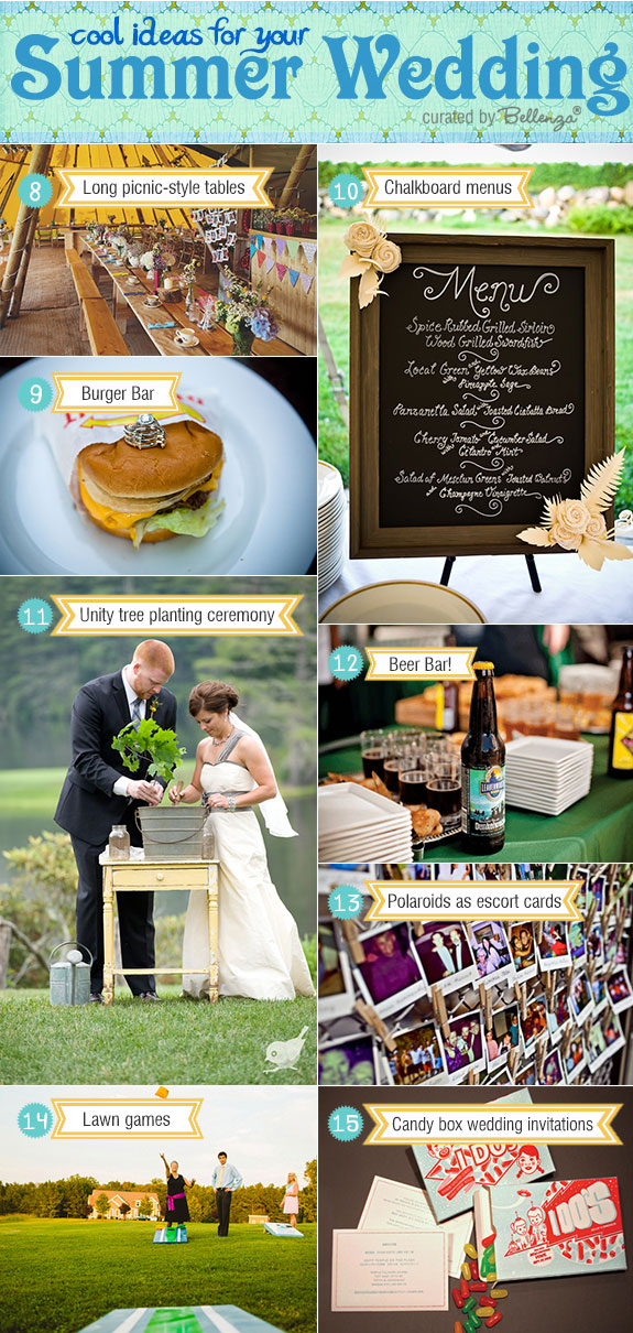 Cool summer wedding ideas that are fun