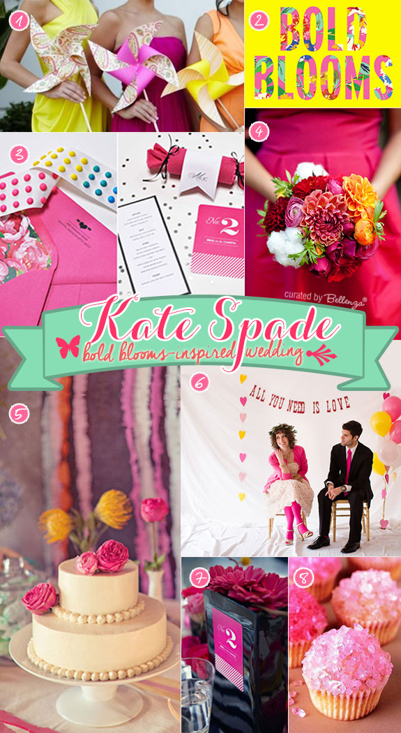 A Spring wedding in fuchsia and yellow inspired by Kate Spade