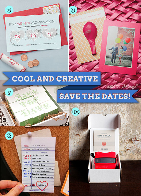 Creative save the dates that are fun and interactive