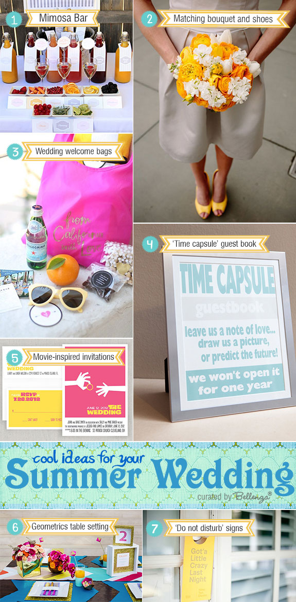 Creative summer wedding reception ideas