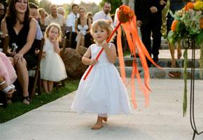 Flowergirl wand for alternative basket idea