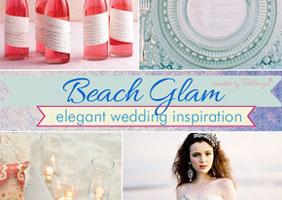 Glamorous beach summer wedding