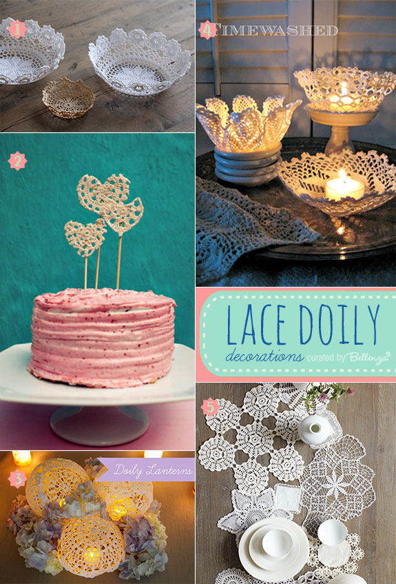 Lace doilies for wedding decorations that are vintage and shabby chic