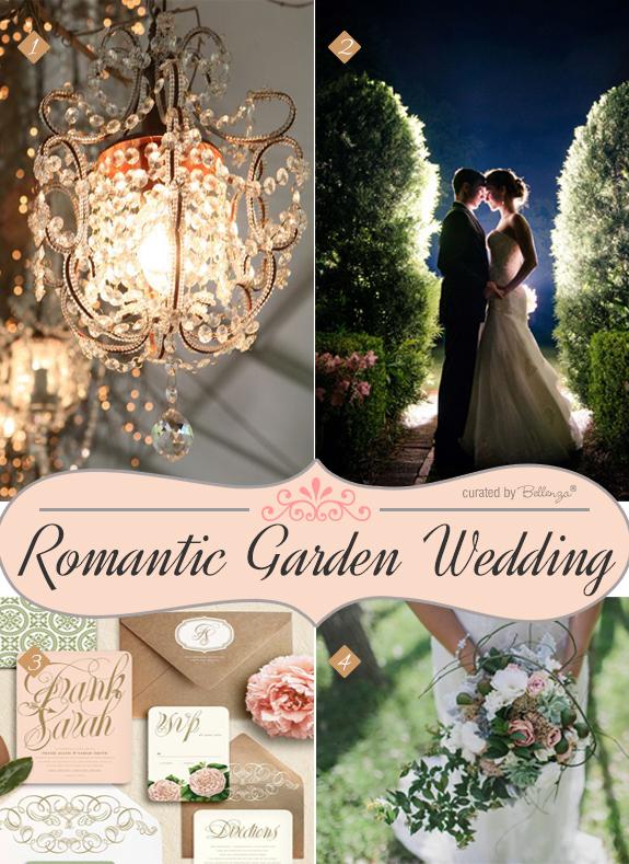 Rustic and elegant garden inspiration for a summer wedding reception.