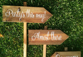 Wooden Reception Sign for Weddings