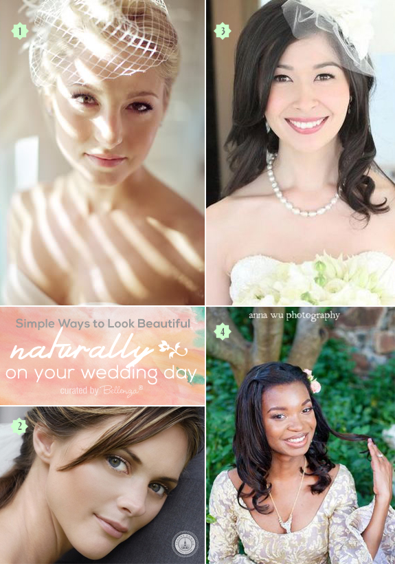 Simple tips for getting a natural look on your wedding day