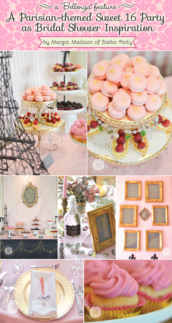 A pink and gold Parisian party by Stellar Party