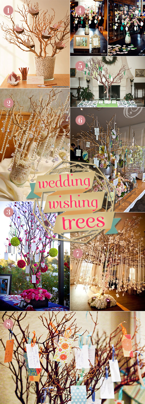 Wedding wish tree ideas from using real trees to tabletop varieties to faux branches in vases