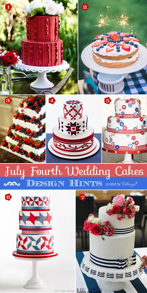 July 4th Wedding Cakes Inspiration from Colorful to Americana-inspired to Modern Styles