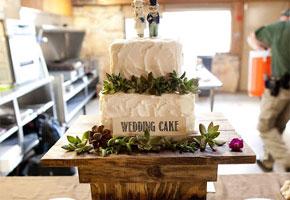 Rustic wedding cake. Photo by Let's Drink Coffee, Darling