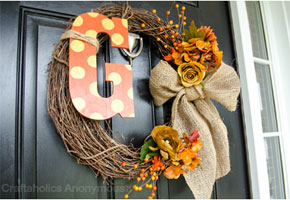 Fall wreath by Craftaholics Anonymous