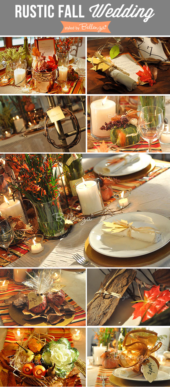 Rustic fall wedding inspiration from Bellenza