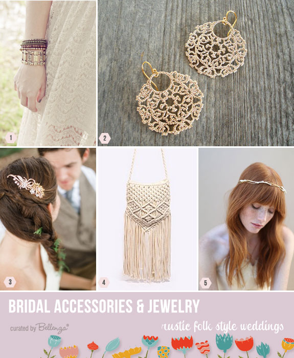 Folk style accessories for weddings | as featured on the Wedding Bistro at Bellenza