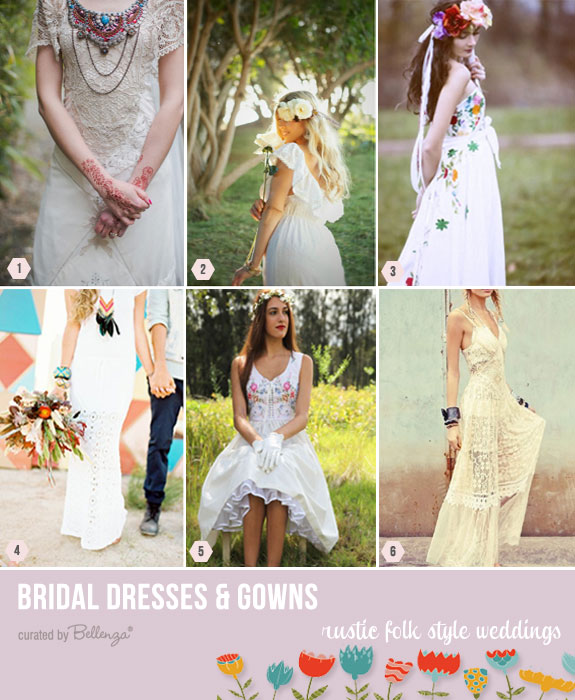 Rustic folk style dresses for weddings | as featured on the Wedding Bistro at Bellenza