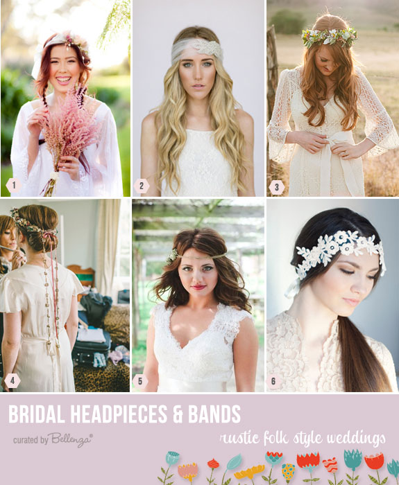 Folk style hairstyles and headpieces