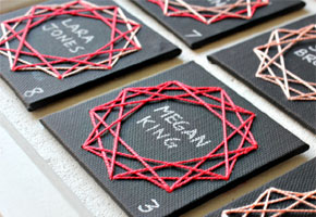 Geometrics placecards by Oh Happy Day