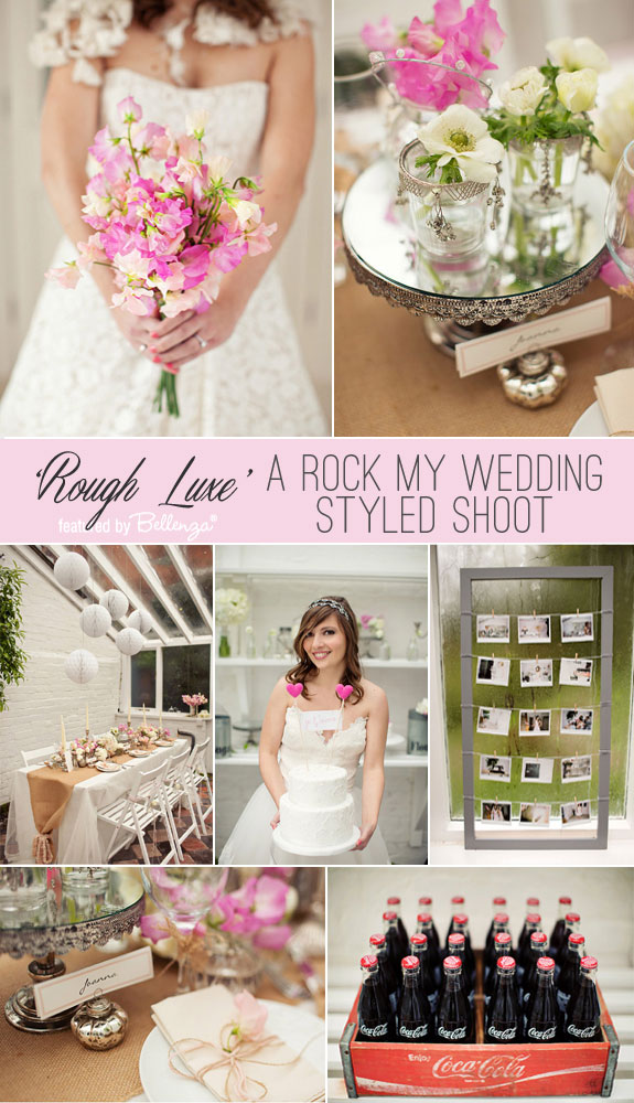 A Rock My Wedding feature for a Stepford Wives-inspired wedding shoot