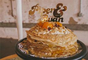 Crepe cake wedding via Storyboard Wedding