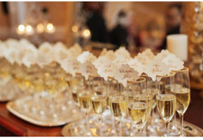 Champagne glasses via The Washingtonian