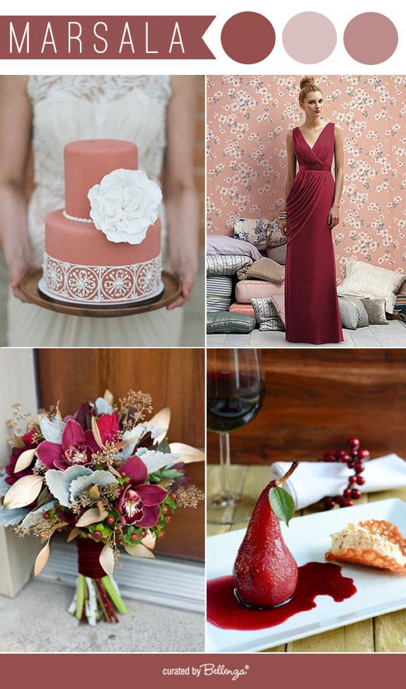 Marsala weddings inspiration for 2015 weddings