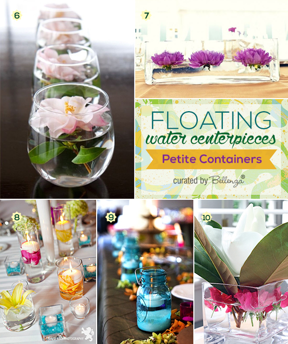 How to use petite glass containers to make floating centerpieces for weddings
