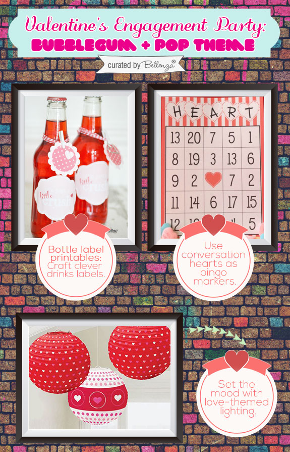Valentine' s soda pop, bingo, and lanterns