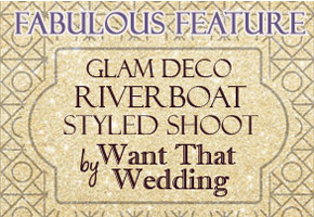 Art deco wedding feature