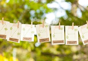 Mason jar place cards cutouts