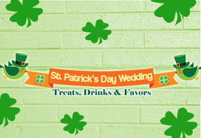 St. Patrick's Day themed wedding desserts and favors