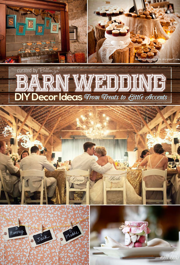 DIY Barn Wedding Ideas From Treats to Little Accent | as featured on the Wedding Bistro at Bellenza