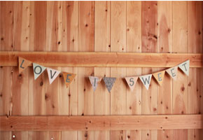 Vintage Country Wedding Love Is Sweet Banner