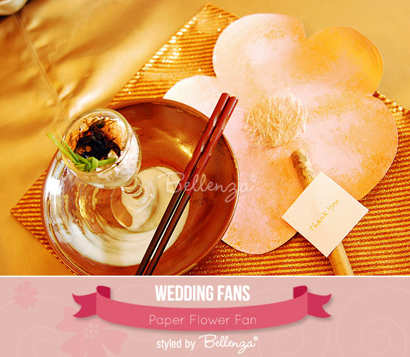 A Paper Flower Fan | created by the Wedding Bistro at Bellenza