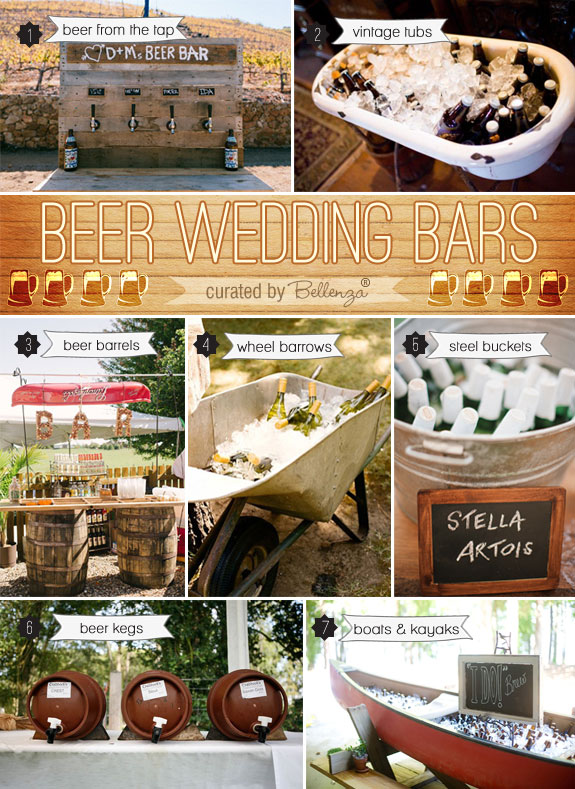 Ideas for Setting Up a Wedding Beer Bar! Don't know what to do? Get these creative ideas now!