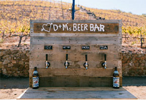 Beer weddings. Photo by Sweet Little Photographs (now The Melideos)