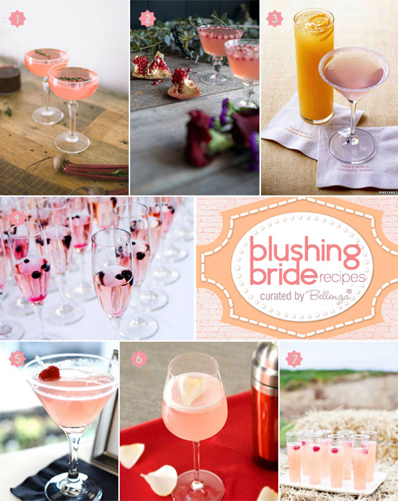 Find out what is blushing bride with these cocktail recipes and serving ideas | as featured on the Wedding Bistro at Bellenza
