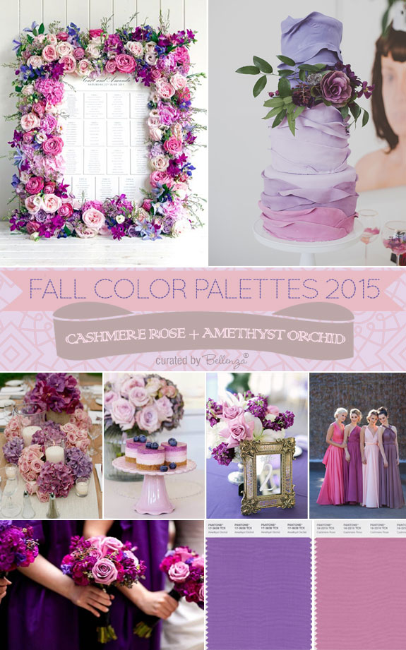 Cashmere Rose and Amethyst Orchid - A Floral-inspired Fall Wedding Palette as seen on the Wedding Bistro at Bellenza