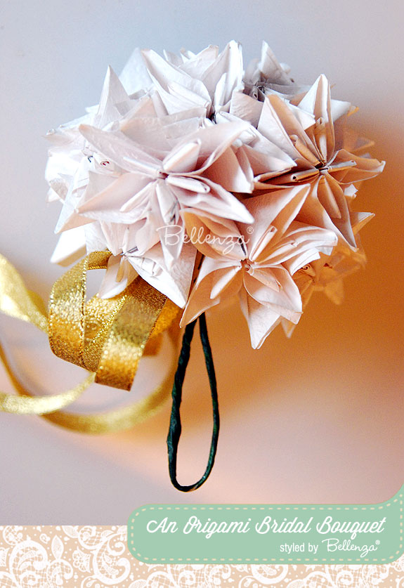 Japanese kusudama paper bouquet | as styled by the Wedding Bistro at Bellenza