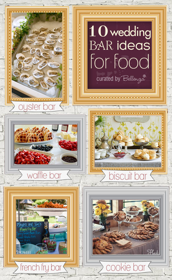 Food bars from oyster bars to cookie bars to cupcake bars as featured on the Bellenza Wedding Bistro