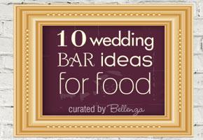 Wedding food bars for summer weddings