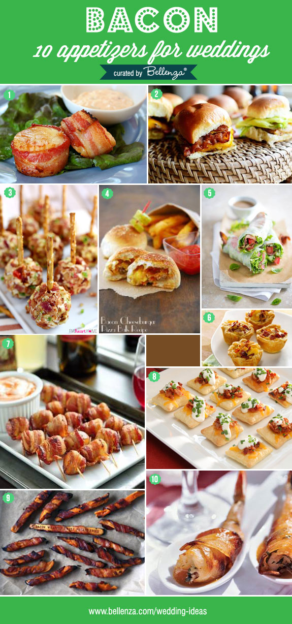 Bacon Appetizers for Weddings. Scrumptious Ideas for your Cocktail Hour! Find the Fab Finds at The Wedding Bistro at Bellenza.