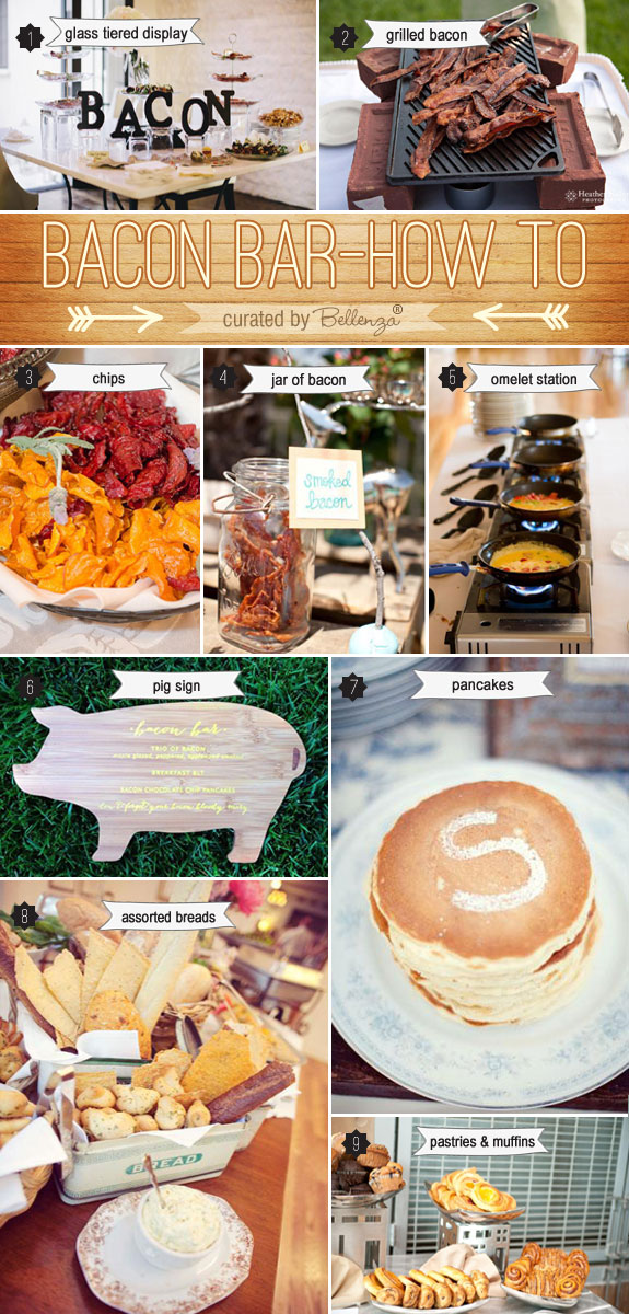 How to Set Up a Bacon Bar at Your Wedding | as featured on the Wedding Bistro at Bellenza. #baconbarweddings