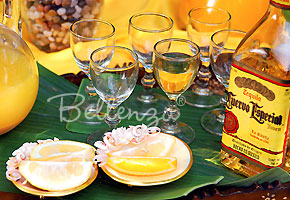 Tequila bar wedding table