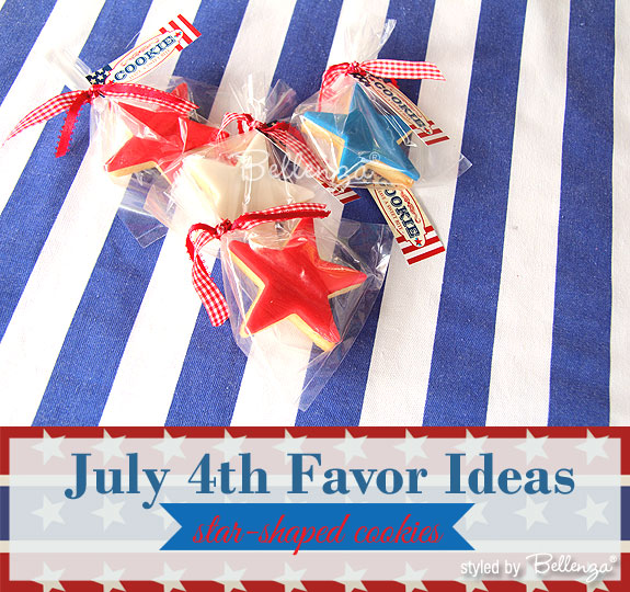 July 4th Wedding Favor Cookies In Red White And Blue As Styled By