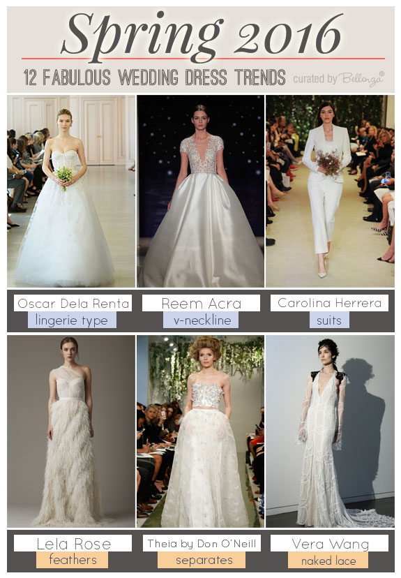 Spring 2016 Wedding Dress Trends that Are Unusual and Edgy as featured on the Wedding Bistro at Bellenza. #2016weddinggowns