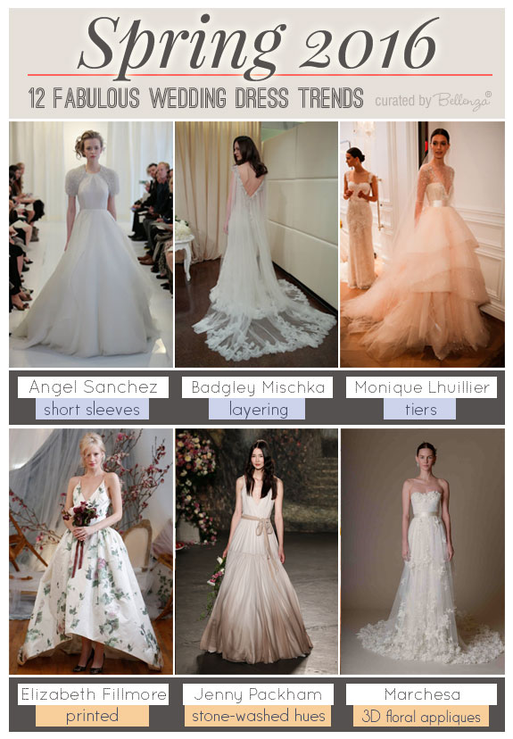 Spring 2016 Wedding Dress Trends that Are Feminine and Flowery | as featured on the Wedding Bistro at Bellenza. #2016weddinggowns