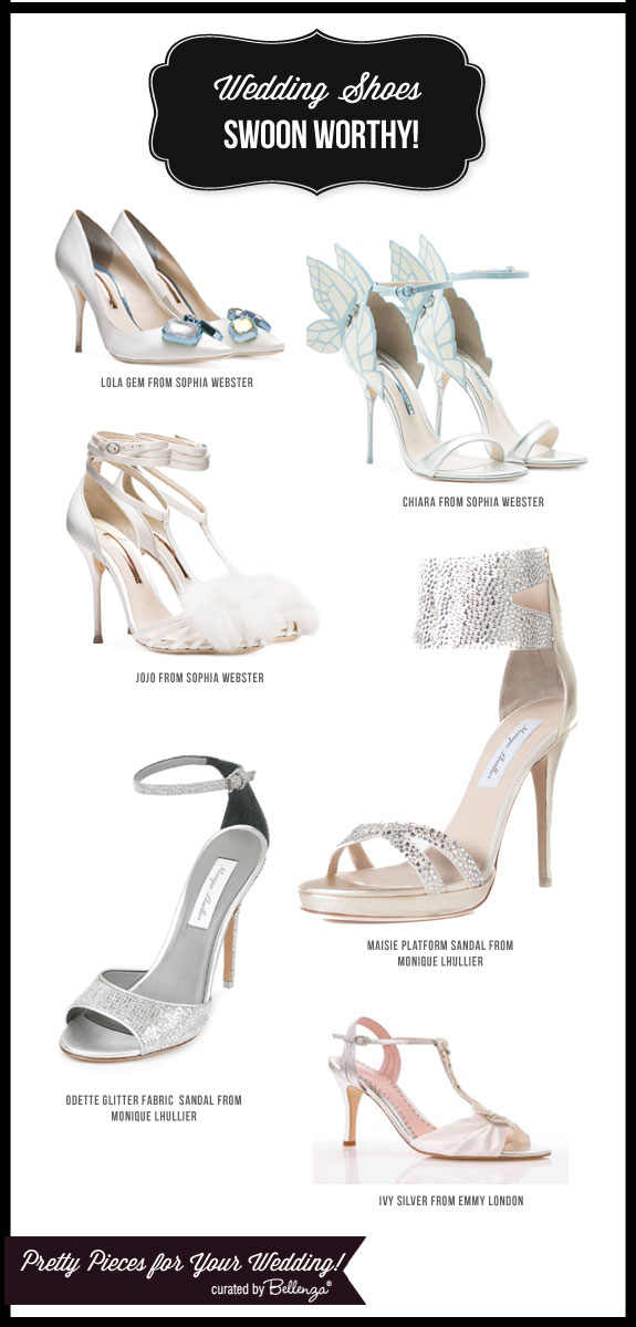 Lovely Wedding Shoes with Pretty Adornments! #weddingshoes #prettyweddingshoes