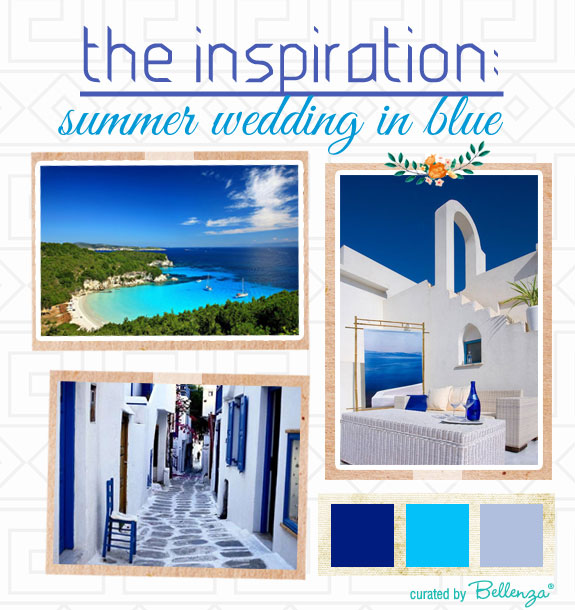 Blue summer wedding inspired by the Greek Isles
