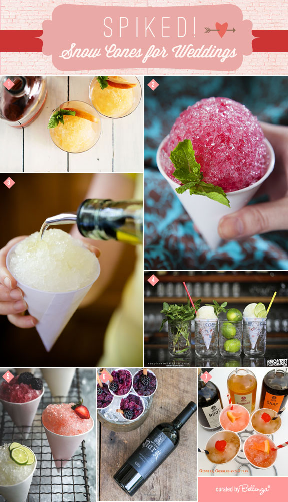 Keep Guests Cool With Cocktail Inspired Snow Cones! #snowcones #spikedsnowcones
