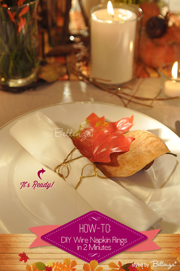 DIY Wire Napkin Rings for a Fall Wedding | A Wedding Craft by Bellenza.