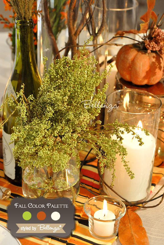 Chartreuse, Burnt Orange, Ivory Autumn Wedding Colors